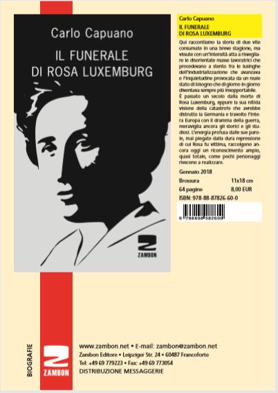 Carlo Capuano IL FUNERALE DI ROSA LUXEMBURG